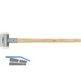 Schon-Vorschlaghammer rückschlagfrei Kopfdurchmesser  80 mm Gewicht 4000g