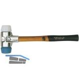 Schonhammer Alu Kopfdurchmesser 40 mm TPE-Soft/Superplastik Hickory Stiel