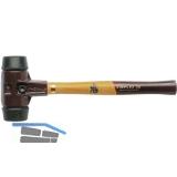 Schonhammer Temperguss Kopfdurchmesser 40 mm Gummi schwarz Hickory Stiel