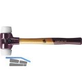 Schonhammer Temperguss Kopfdurchmesser 40 mm Nylon weiß Hickory Stiel