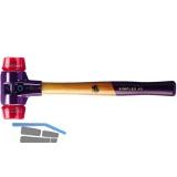 Schonhammer Temperguss Kopfdurchmesser 40 mm Plastik rot Hickory Stiel