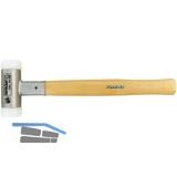 Nylonhammer rückschlagfrei Kopfdurchmesser 25 mm mit Hickory Stiel