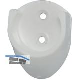 Schrankrohrlager Rund 1 ø 19 mm, Kunststoff weiß
