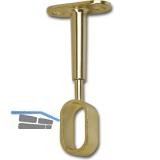 Schrankrohrlager Oval 7-für Schrankrohr offen 30 x 15 mm, Zamak verchromt