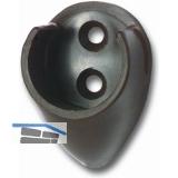 Schrankrohrlager Rund 1 ø 19 mm, Kunststoff braun
