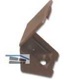 Schrankverbinder Corner 3, mit Klappe und 2 Senkbohrungen ø4,5, KS dunkelbraun