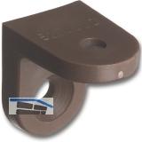 Schrankverbinder Corner 2, 23 x 23 x 24 mm, Kunststoff dunkelbraun