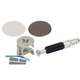 SECOTEC Schrankverbinder Exzenter 15 mm Kunststoff braun/weiß SB-8 BL3