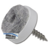 SECOTEC Gleitnägel mit Filz zum Schrauben 20 mm SB-4 BL2