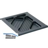 HETTICH SYSTEMA TOP 2000 Materialschub, EB 392 mm, schwarz