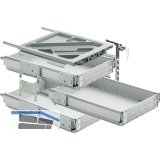 HETTICH SYSTEMA TOP 2000 Container-Set Sil Sys, Vollauszug, ET 530, alu