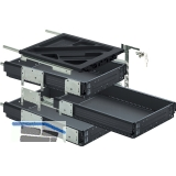 HETTICH SYSTEMA TOP 2000 Container-Set Sil Sys, Vollauszug, ET 530,schw.