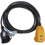 BRENNENSTUHL Personenschutzadapter-Leitung 2 m H07RN-F 3G1,5 schwarz