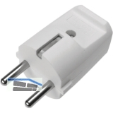 Schutzkontakt-Stecker, 2-polig, 10/16 A, 250 V, Kabeleinführung zentral