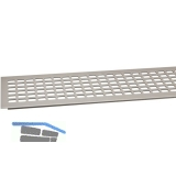 SECOTEC Lüftungsgitter Aluminium Titan/Edelstahl Effekt 100X1000 mm SB-1