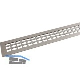 SECOTEC Lüftungsgitter Aluminium Titan/Edelstahl Effekt 60X600 mm SB-1