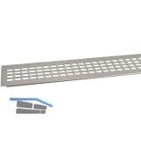 SECOTEC Lüftungsgitter Aluminium Titan/Edelstahl Effekt 80X1000 mm SB-1