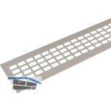SECOTEC Lüftungsgitter Aluminium Titan/Edelstahl Effekt 80X400 mm SB-1