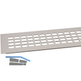 SECOTEC Lüftungsgitter Aluminium Titan/Edelstahl Effekt 80X800 mm SB-1