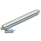 Senklot Lange Form aus Stahl mit abschraubbarer Messingkappe 220 Gramm