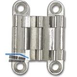 Sepa-Thin Einlass-Scharnier Höhe 39 mm, Messing vern. matt
