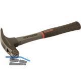 PEDDINGHAUS Sicherheits-Lattenhammer schwarz 600 g Glasfaserstiel, Nagelhalter