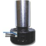Sockelverstellfuß STAHL, Sockelhöhe 100 mm, Stahl verzinkt, Kunststoff schwarz