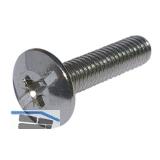 Spezialschraube SO Oval 4/5/6 - für Schrankrohrlager, M6 x 25 mm, Stahl verzinkt