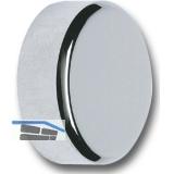 Spiegelkappe zum Schrauben, Außen ø 16 mm, Innen ø 5 mm, Messing verchromt matt