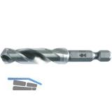 FISCH Spiralbohrer HSS für Metall mit 1/4\ Bit Aufnahme Bohrer ø  3 mm