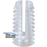 Spreizmuffe Kunststoff 11 x 5,5, Bohr-Ø 5 mm, Kunststoff natur