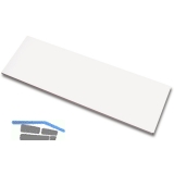 Stahlfachboden 10700, B 800, T 250, Stahl, weiß (ähnlich RAL 9003)