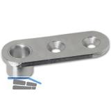 Stangenführungsplatte f. Rundstange ø 10 mm, Stahl verzinkt