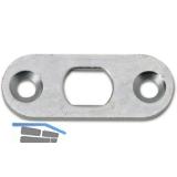 Stangenschließblech BKS 52 x 20 x 3 mm rund, Stahl verzinkt