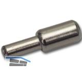 Steckbodenträger Mini, Bohr ø 3 mm, vermessingt, VPE 100 ST