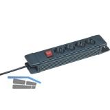 BRENNENSTUHL 4-fach Verteiler schwarz mit Schalter Länge 320 mm