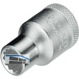 GEDORE Steckschlüssel-Einsatz D19 DIN3124 1/2\vierkant  8.0 mm zwölfkant