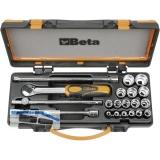 BETA Steckschlüssel-Satz 910A/C16 3/8\vierkant mit Umschaltknarre 18-teilig