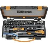 BETA Steckschlüssel-Satz 900/C11 1/4\vierkant mit Umschaltknarre 36-teilig
