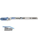 BOSCH Stichsägeblätter T118EOF (5 St) flexible for metal