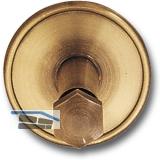 Stiegengriffstütze zum Klemmen, Ros. ø 70 mm, Wandab. 60 mm, Messing patiniert