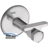 Stiegengriffstütze, Rosetten ø 70 mm, Wandabstand 65 mm, Aluminium poliert