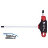 Sechskant Stiftschlüssel 2K T-Griff mit Seitenabtrieb  2,0 mm Länge 125,0 mm
