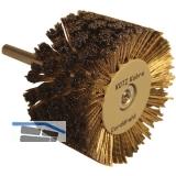 Strukturierbürste Messing 90 mm Schaft 10 mm für Bohrmaschine