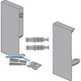 BLUM ANTARO Tandembox BLUM Fronthalter H C KS grau RAL9006