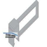 BLUM ORGA-LINE TANDEMBOX ANTARO Längsteiler zu Querreling, grau RAL9006