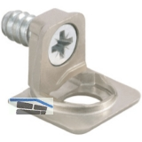 Tablar-Bodenträger PK2, Anschrauben, Tablarstärke 16 mm, Bohr ø 5 mm, vernickelt