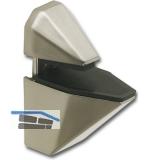 Glastablar-Klemmträger Eckig, Glas 3-25 mm, Zinkdruckguss Edelstahl Effekt