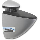 Glastablar-Klemmträger Oval, Glas 3-15 mm, Zinkdruckguss Edelstahl Effekt
