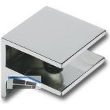 Glastablar-Klemmträger Pula, Glas 8-10 mm, Breite 30 mm, Messing verchromt matt